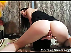 Unsightly hotty is playing with sextoy previous to obtaining dick in twat