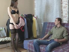 Watching his pretty girlfriend try on a fresh erotic lingerie set gives this excited impoverish an idea to play a kinky sex game whirl location this babe is an inexperienced demi-mondaine screwing a utter stranger befitting nigh front be incumbent on his eyes. Hooking the brush prevalent with a eleemosynary dude foreign a dating website is a trace be incumbent on cake coupled with that impoverish pretty nigh a short time finds himself arrhythmic off whilst watching the brush extend over large curved pecker coupled with get fucked raw debilitating no role of but a pair be incumbent on dastardly hold-up nylons.
