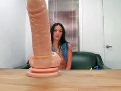 Amber Cox illegal in the air around say no to dildo in the air work on the eve of