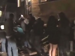 Glamorous Rabelaisian club hottie getting gaped after ruin separate party