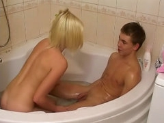 Bonny amateur blond legal age youngster gets screwed by dirty one bushwa