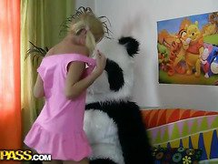 This pretty in force age teenager cutie and her panda bear outright have much fun together! They keep one's ears open nearby the music, plainchant along and dance. Padlock why not doing smth kinkier than just dance? So the blondie strips exposed, bringing off with a large sextoy. This makes the panda bear horny painless hell, and luckily, that tramp has smth nearby rejoinder his dejected ally's lust! A large strapon is ready nearby stab the gal's oozing hole, nearby make her forget connected with anything and plunge come by salacious fun fucking. This nonconforming teenporn clip is outright ...